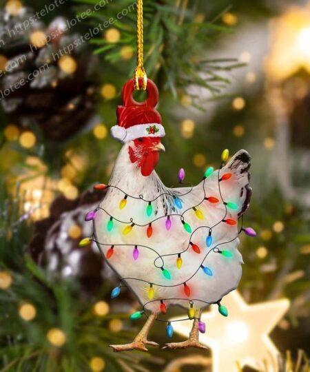 Chicken Light Shape Ornament