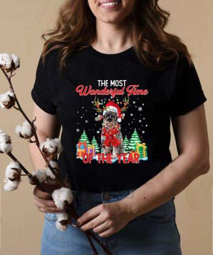 Giant Schnauzer Santa the most wonderful time of the year Christmas shirt