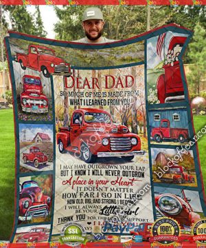 Dad, I Love You Always And Forever – Red Truck Quilt