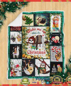 Wake Up When It's Christmas, Sloth Sofa Throw Blanket