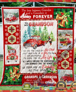 Happy Camper Christmas Sofa Throw Blanket