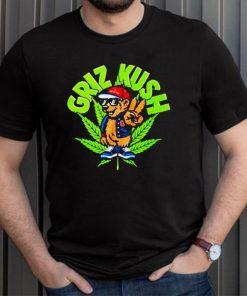Bear smoking weed griz kush shirt