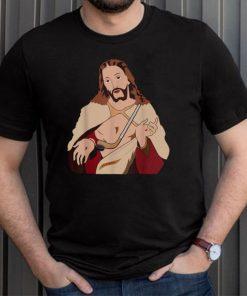 Christian Hockey Player Coach Sport Puck Life Jesus shirt