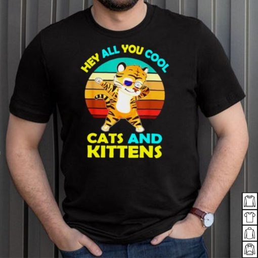 Hey All You Cool Cats And Kittens Tiger Vintage T Shirt