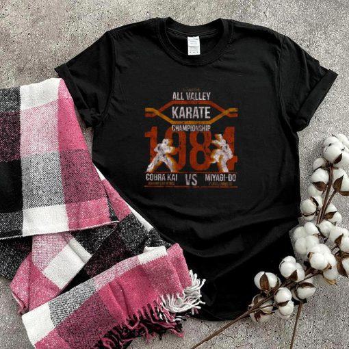 All Valley Karate Championship 1984 Cobra Kai Vs Miyagi Do Karate Kid T shirt