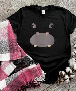 Animal Face Hippo Costume Halloween Adults shirt