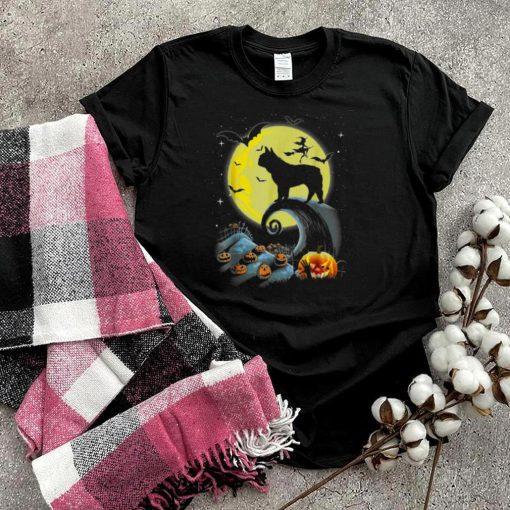 French Bulldog Dog And Moon Halloween Costume shirt
