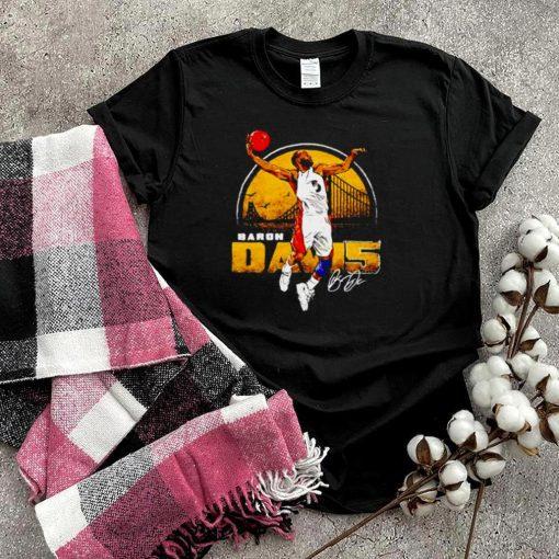 Golden State Throwbacks Baron Davis Bay Area signature shirt