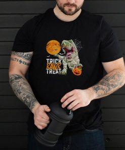 Halloween Trick Rawr Treat T Rex Dinosaur Mummy Boys shirt