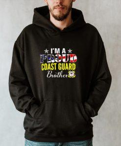 Im A Proud Coast Guard Brother American Flag Veteran T shirt