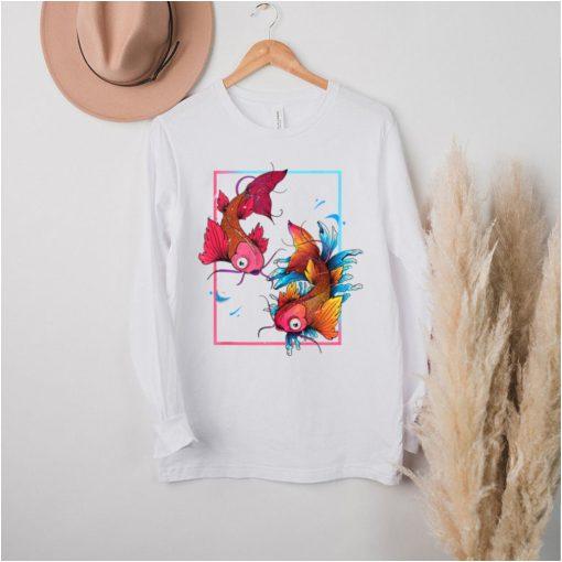 Japanese Culture Sakura Nishikigoi Carp Fish Pond Koi Carp hoodie, tank top, sweater