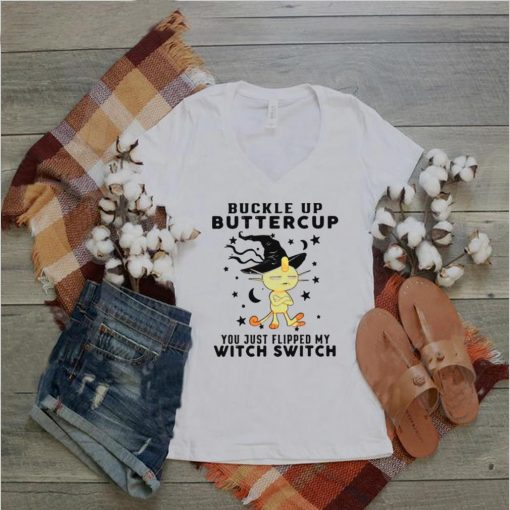 Monkey Buckle Up Buttercup You just Flipped My Witch Switch Halloween T shirt