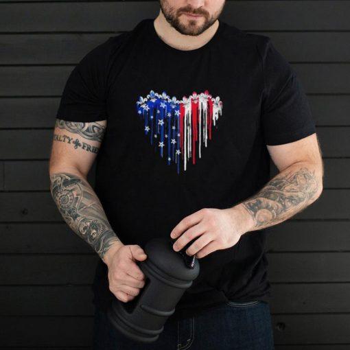 Scout love heart American flag shirt