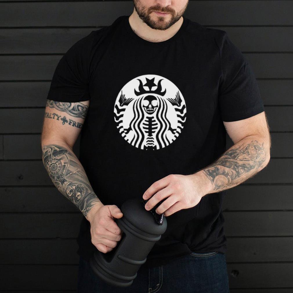 Spooky Starbucks skeleton Halloween shirt
