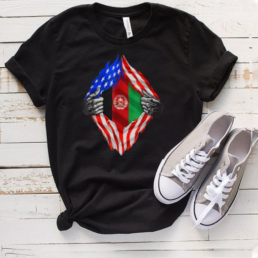 Super Afghan Heritage Afghanistan Roots USA Flag hoodie, tank top, sweater
