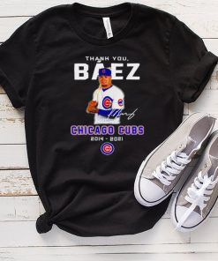Thank you Baez Chicago Cubs 2014 2021 signature shirt