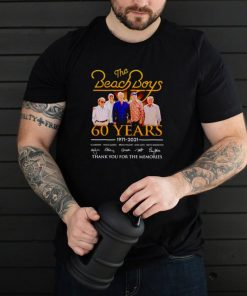 The Beach Boys 60 years 1971 2021 thank you for the memories shirt
