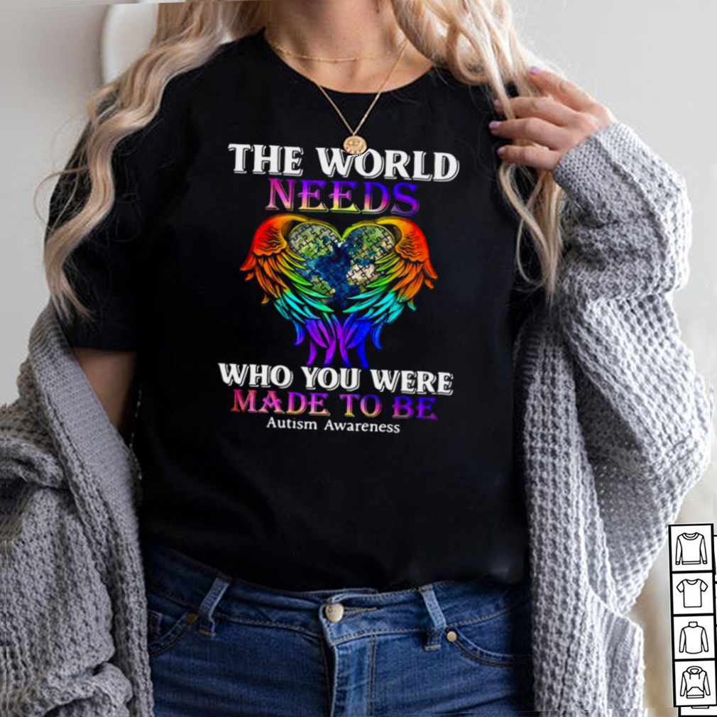 Wings hug heart earth the world needs who you were made to be autism awareness hoodie, tank top, sweater