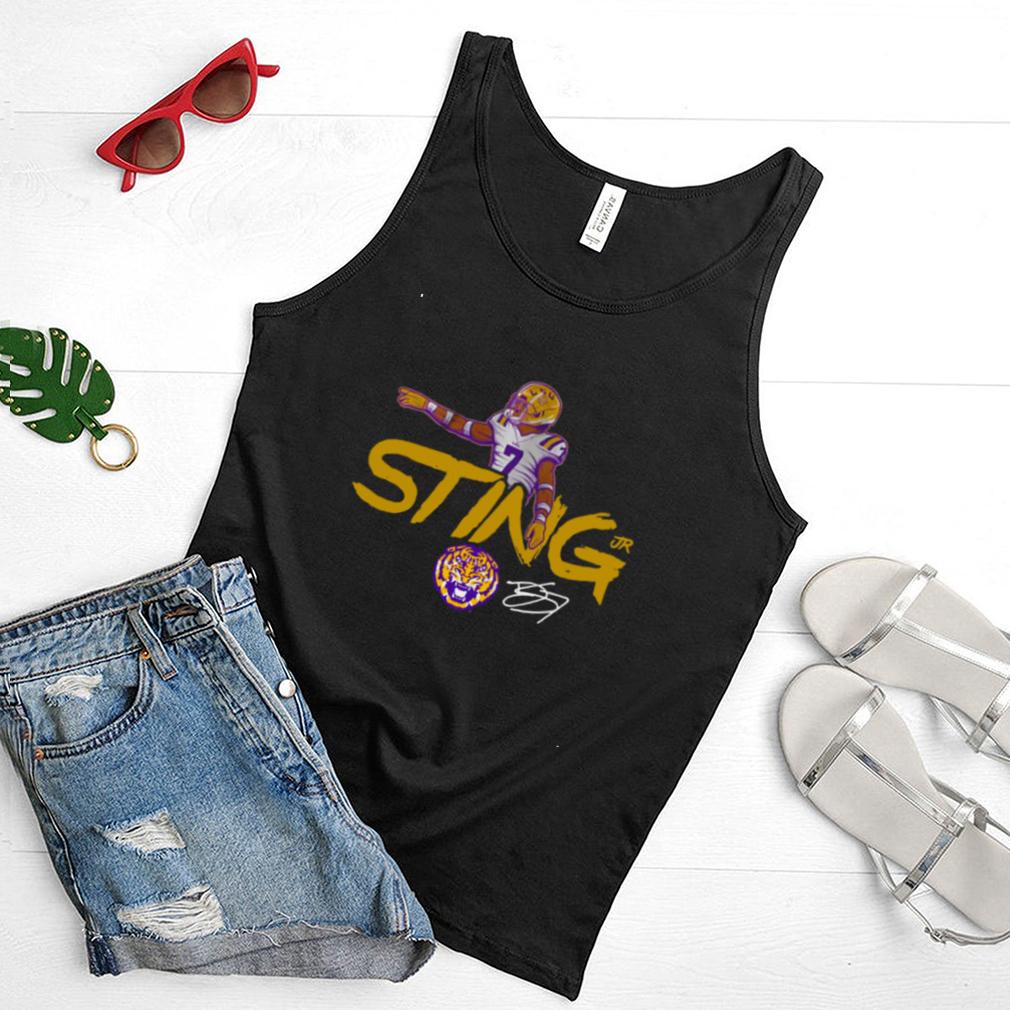 Derek Stingley Jr. And LSU Licensed Shirt