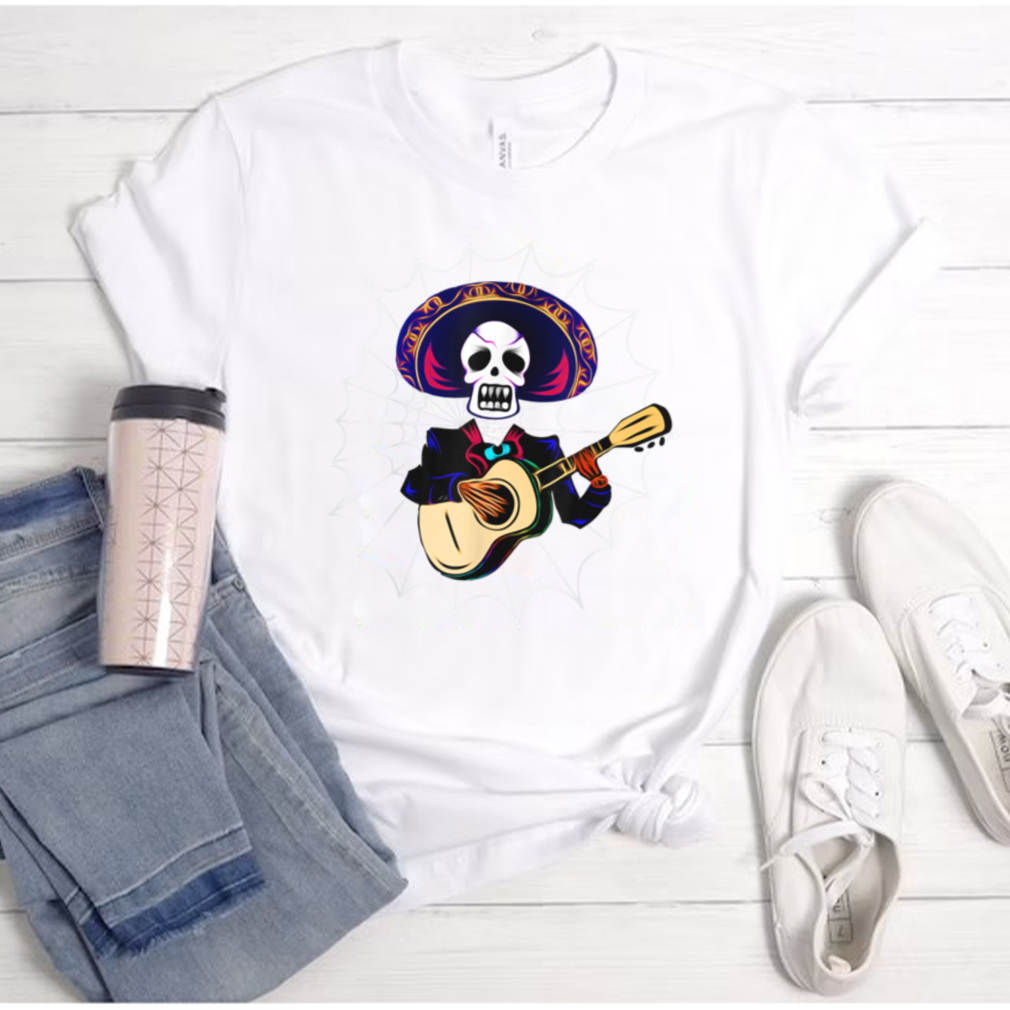 Dia de los Muertos Skeleton and Spider Web Day of the Dead T Shirt