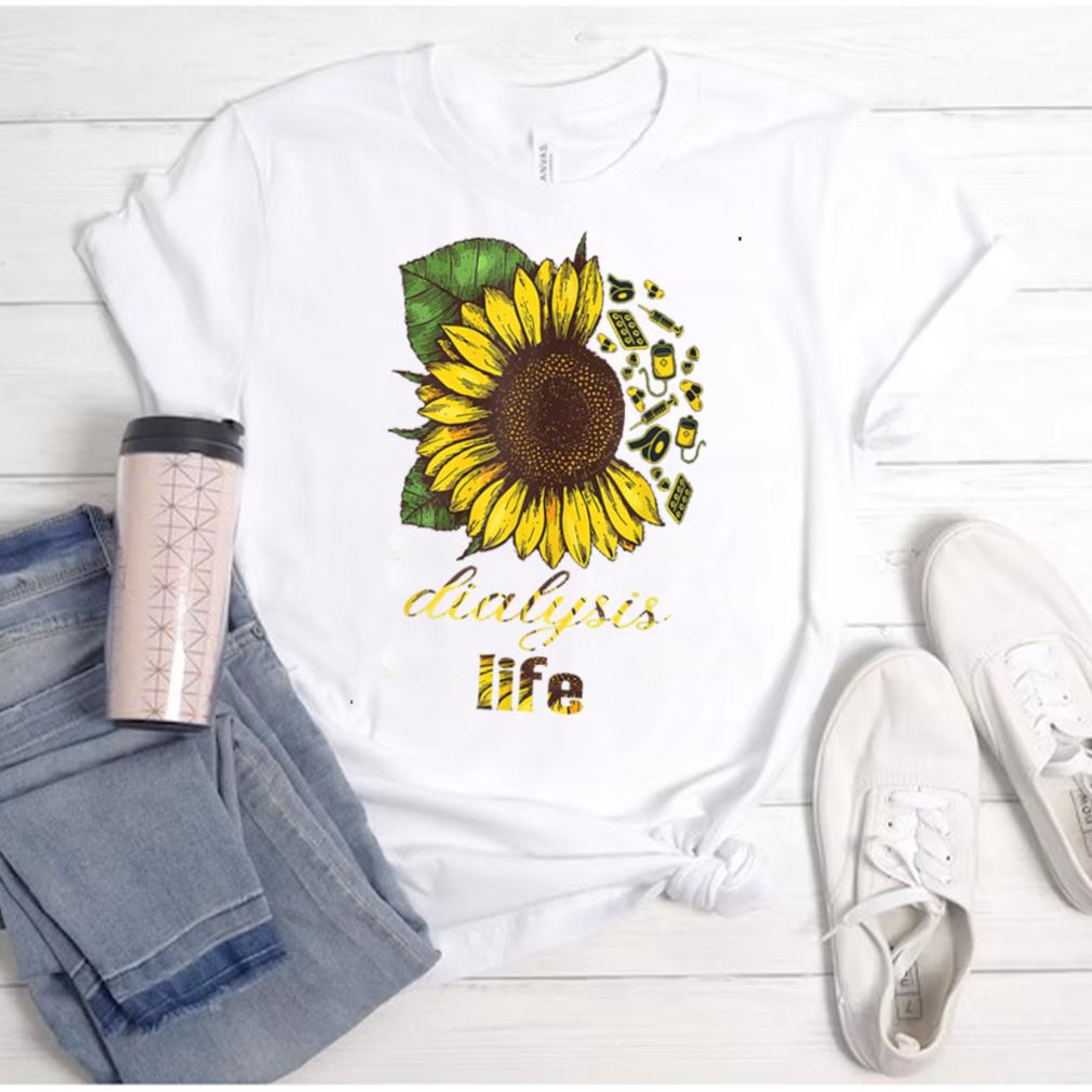 Dialysis Tech Dialysis technologists sunflower Nurse T Shirt
