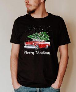 Merry Christmas Tree On Car Xmas Vacation T Shirt