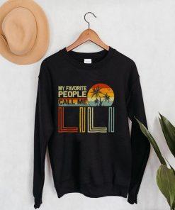 My Favorite People Call Me Lili Vintage Retro Funny Lili T Shirt