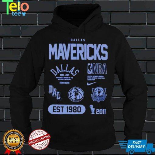 Awesome dallas Mavericks 75th anniversary courtside element shirt