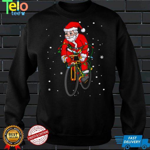 Baseball Santa Claus Christmas Tree Lights Pajama Boys Men T Shirt