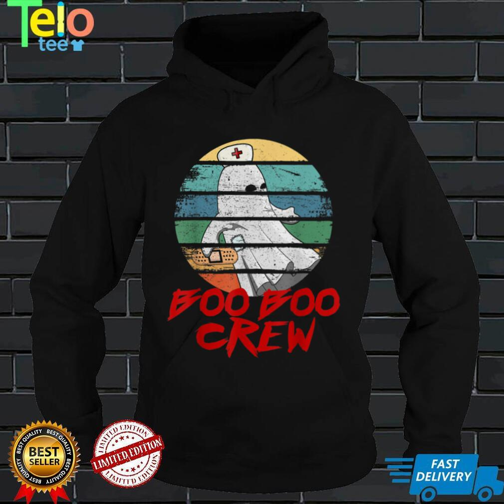 Boo Boo Crew Nurse Halloween Shirt for Nurses Ghost Women T Shirt