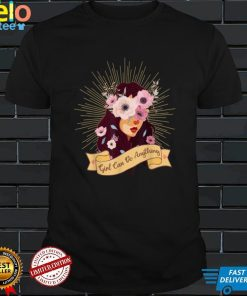Breast Cancer Awareness Black Girl Can Do It Gift T Shirt
