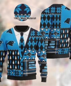 Carolina Panthers NFL American Football Team Cardigan Style 3D Men And Women Ugly Sweater Shirt For Sport Lovers On Christmas Days