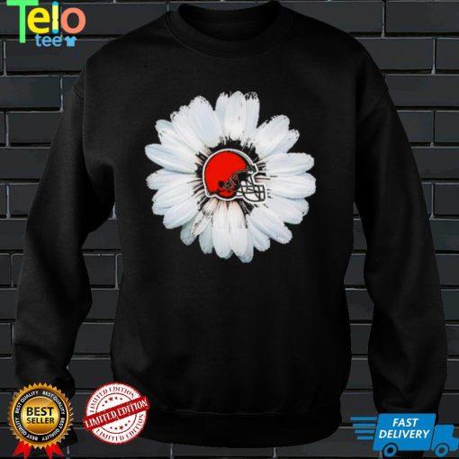Cleveland Browns Flower White Daisy Shirt