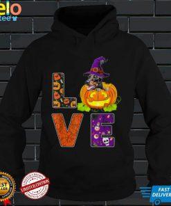 Cute Love Dog Dad Dog Mom Costume Halloween Doberman T Shirt