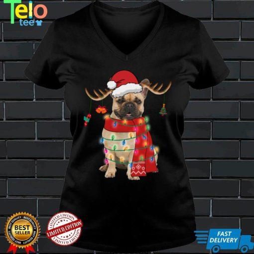 French Bulldog Dog Christmas Light Funny Puppy Pet Lover Sweatshirt
