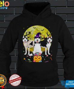 Fun Siberian Husky Halloween Costume Gift Dog Lover T Shirt