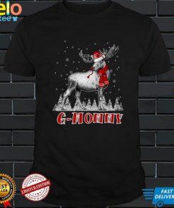 G Mommy Moose Wear Santa Hat Matching Christmas Costume Long Sleeve T Shirt