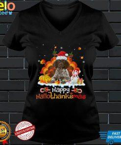 German Shorthaired Pointer Happy Hallothanksmas Halloween T Shirt