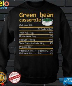 Green Bean Casserole Nutrition Facts Thanksgiving Costume T Shirt
