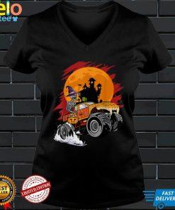 Halloween Skeleton Monster Truck Boys Toddler Kids Halloween T Shirt