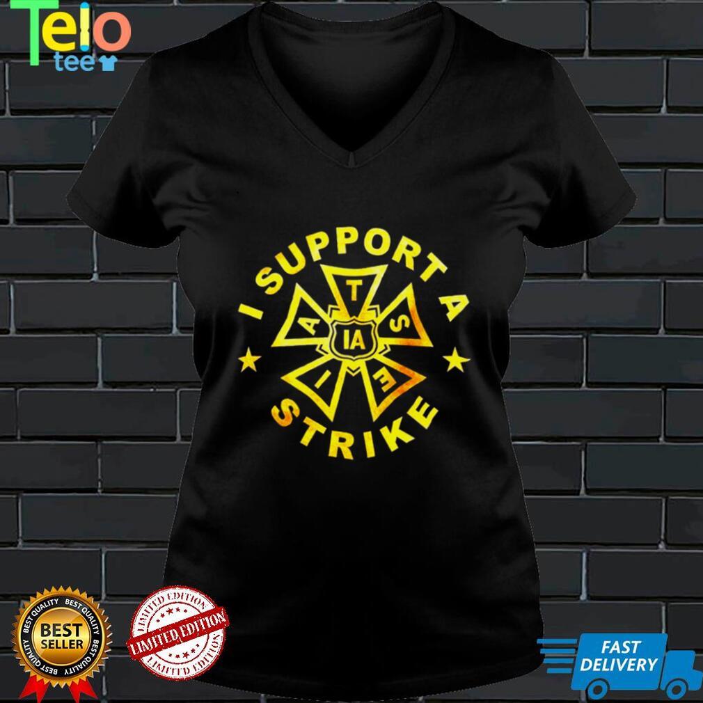 IATSE Gold version I support a strike shirt