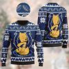 Indianapolis Colts NFL American Football Team Logo Cute Winnie The Pooh Bear 3D Ugly Christmas Sweater Shirt For Men And Women On Xmas Days
