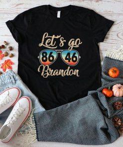 Lets Go Brandon 8646 Retro American Flag Impeach Biden Shirt