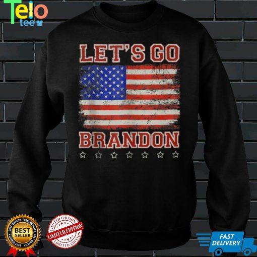 Let's Go Brandon, Joe Biden Chant, American Flag Vintage Tank Top