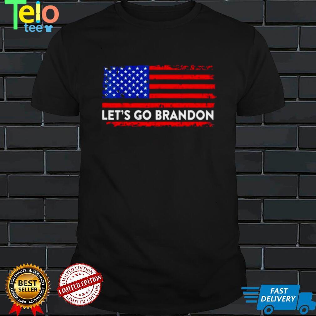 Lets go brandon us flag shirt