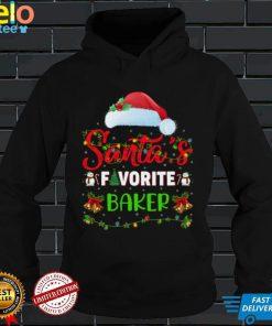 Lighting Xmas Santa's Favorite Baker Christmas Sweatshirt
