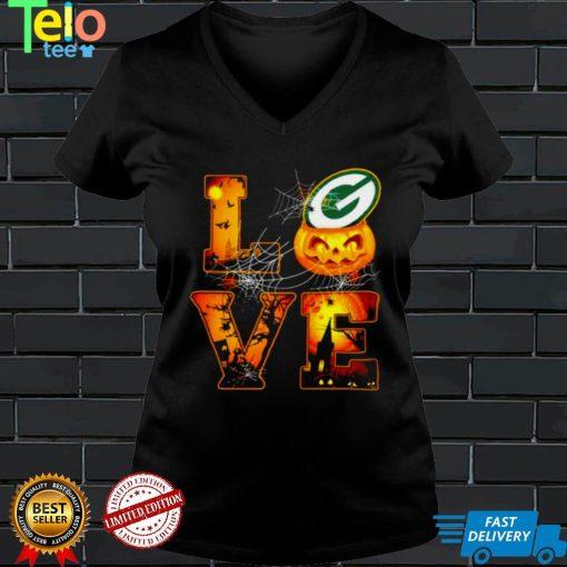 Love Halloween Green Bay Packer Shirt