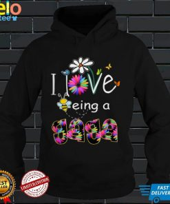 Mens I Love Being a Gaga Colorful Daisy Flower Bee Lover Tank Top