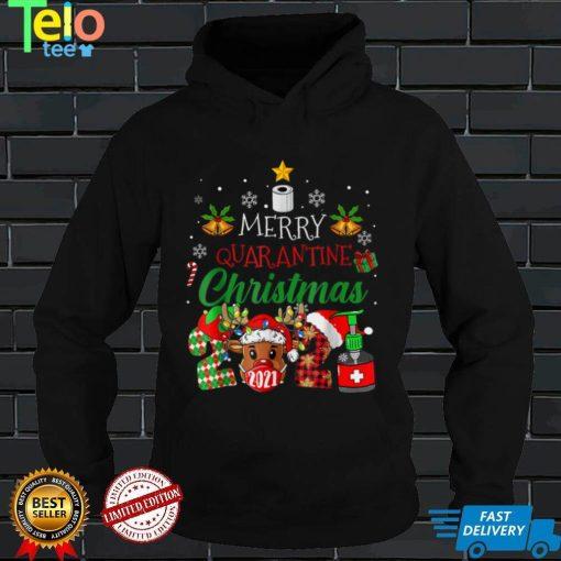 Merry Christmas 2021 Reindeer Funny Pajamas Family Xmas T Shirt (4)