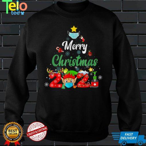 Merry Christmas 2021 Reindeer Funny Pajamas Family Xmas T Shirt